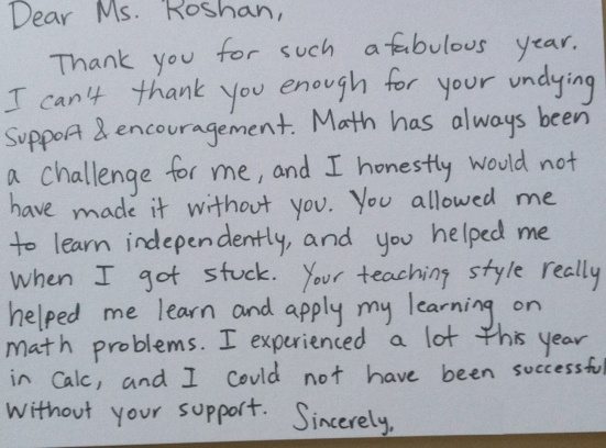 Thank You Letter Cooperating Teacher After Student