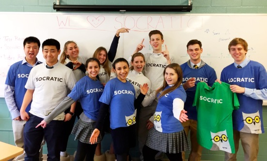 Goofy pic of my AP Calc class rocking out the Socratic t-shirt we got sent!