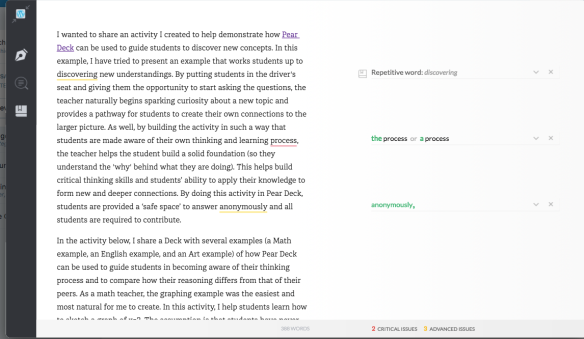 Using @Grammarly to Improve Writing – Reviewing Grammarly