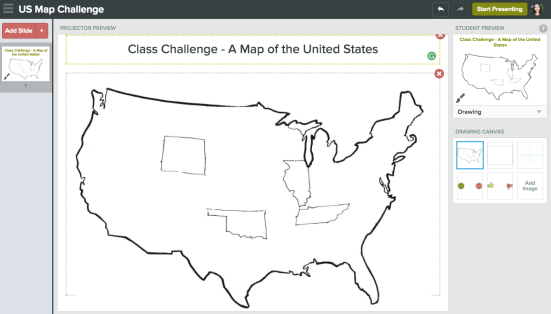 StDays Challenge Sketch A Map Of The United States Using - Us map sketch