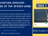 Using @WeVideo + @Flipgrid to Capture the Power of the Spoken Word@BullisSchool
