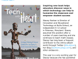 "Interview on @EmergingEdTech | Exploring ""Tech With Heart"" with Stacey Roshan #TechWithHeart #DBCincBooks"