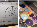 "Bullis Middle School Students Make ""Math Clocks"" Using @Texthelp's #EquatIO, Old CD's, & the Laser Engraver #Edtech #Makered #STEAM #STEM #mathchat #mtbos"