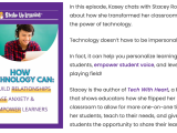 .@ShakeUpLearning Podcast: How #EdTech Can Help Build Relationships, Ease Anxiety, and EmpowerLearners!